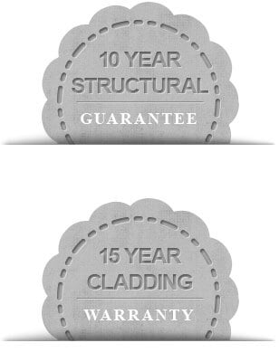 10 year structural guarantee 15 year cladding warranty